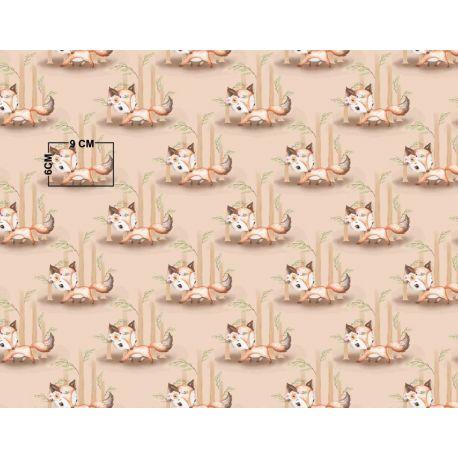 Tkanina bawełniana liski beżowe