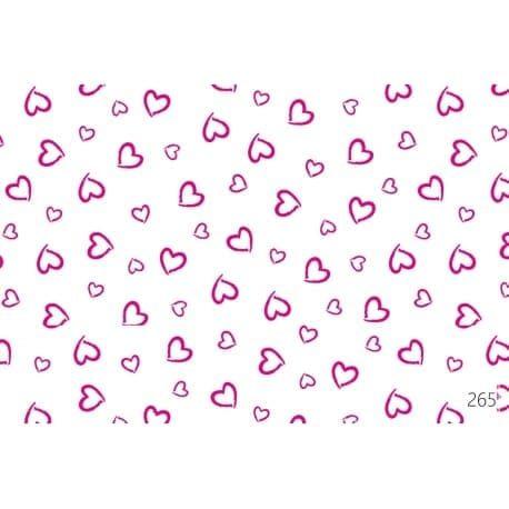Tkanina bawełniana serca