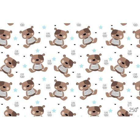 Tkanina bawełniana cute teddy