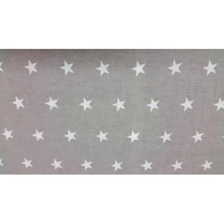 Tkanina bawełniana gwiazdki szara