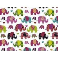 Tkanina bawełniana słoniki