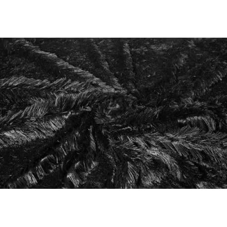 Plusz shaggy czarny 40 mm