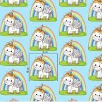 Tkanina bawełniana jednorożec mięta