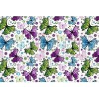 Tkanina bawełniana motyle kolor