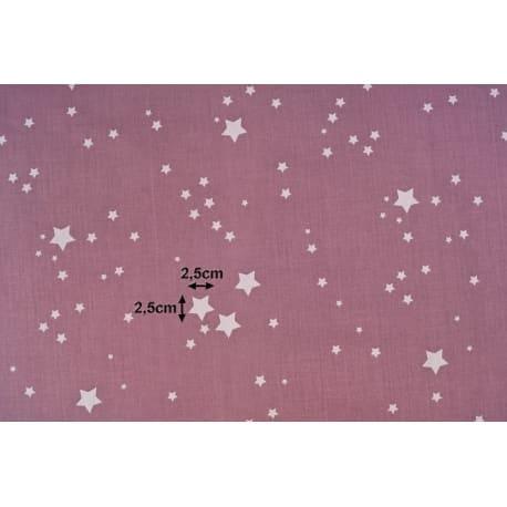 Tkanina bawełniana gwiazdki brązowe 112