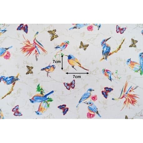 Tkanina bawełniana ptaki 820