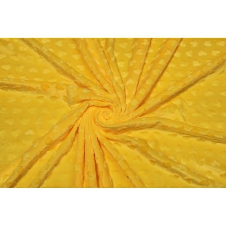 Plusz minky serca żółty